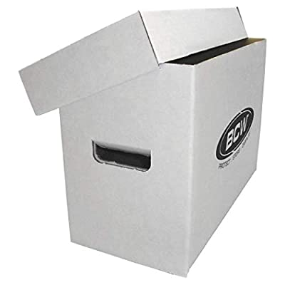 BCW Short Comic White Storage Box | Holds 150-175 Comics| 200 lb. Test Strength | (10-Pack): Clothing