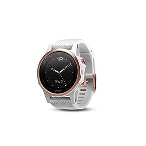 Garmin fēnix 5s, Premium and Rugged Smaller-Sized Multisport GPS Smartwatch, Sapphire Glass, Rose Gold/White