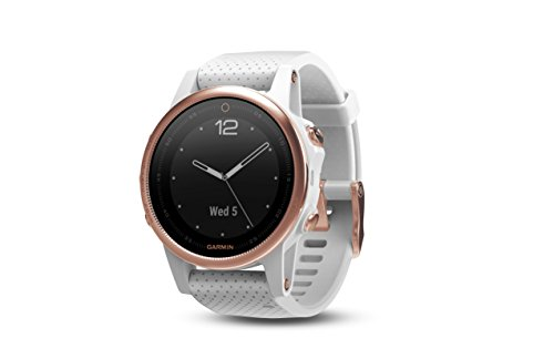 Garmin F Nix 5S Sapphire   Rose Goldtone With White Band