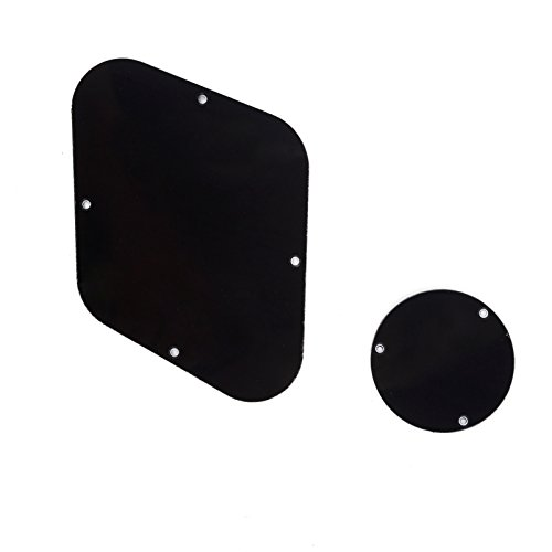 Musiclily LP Backplate and Control Switch Cavity Cover Plate Set for Gibson Les Paul Guitar,3Ply Black