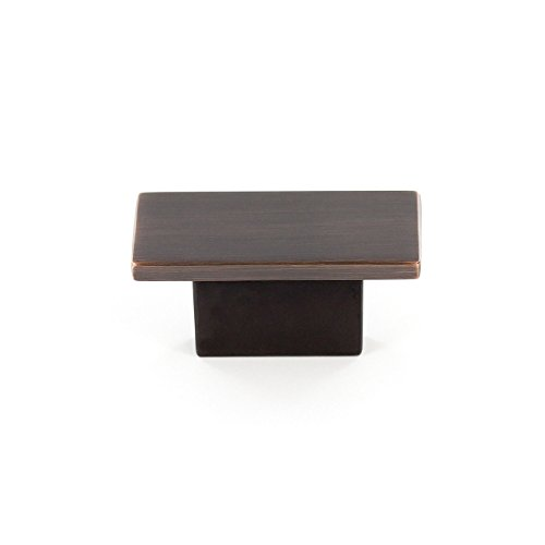Richelieu Hardware - BP8102116BORB - Contemporary Metal Knob - Brushed Oil-Rubbed Bronze  Finish