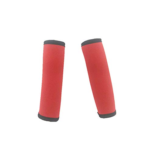 Price comparison product image 2 Pcs Soft Neoprene Microwave Door Handle Covers Luggage Handle Covers Keep Off Drips, Fingerprints Dust Covers (Red)