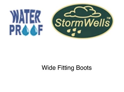Ladies Trim Boots Wellies Navy Red Comfort Insoles Extra Memory Calf With Plus Foam Wide Wellington rw6frqI