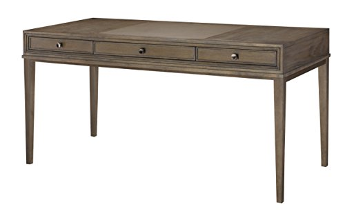 American Drew Park Studio 3 Drawer Wood Writing Desk in Taupe
