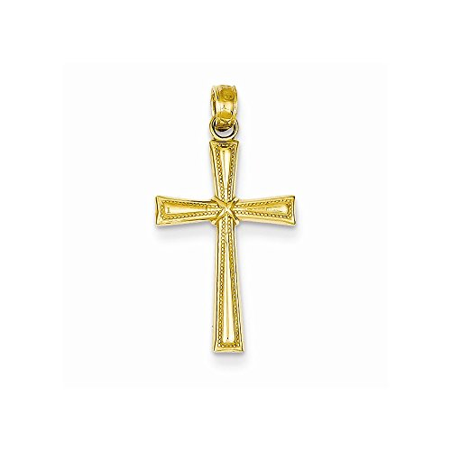 14K Dia-Cut X Cross Pendant, Best Quality Free Gift Box
