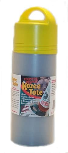 Counter Assault Kozee-Tote Bear Pepper Spray Transportation and Storage Safety Container