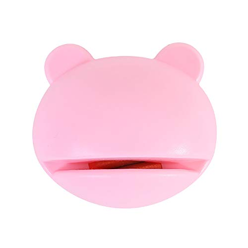 Mzwodmu Cartoon Bear Shape Mini Whetstone Knife Grinding Mill Sharpener Kitchen Tool Pink