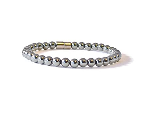 Beads-N-Style High Power Magnetic Rounds Bracelet (Hematite Round Anklet)