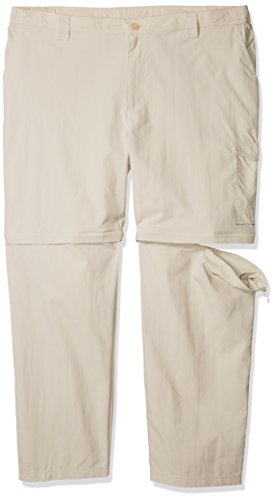 Columbia Sportswear Men's Big Blood & Guts III Convertible Pants, Fossil, 54 x 34 -  ColumbiaSportswear, 1577262-160-Size 54 x 34
