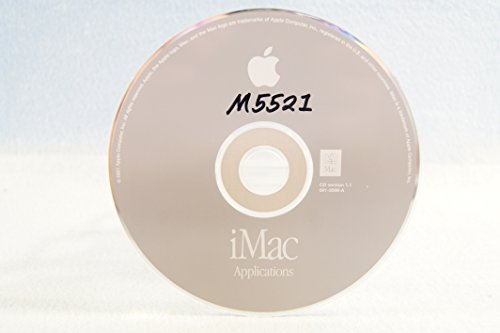 iMac Applications Genuine Macintosh Mac Part Number: 691-3098-A: CD Version 1.1 Apple Operating System Computer Software Program Replacement Disc PC