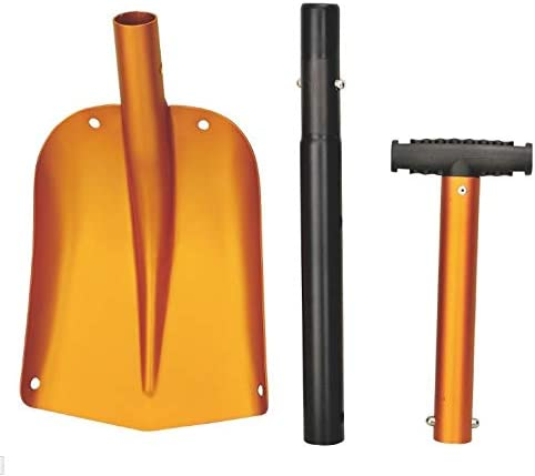 17 Aluminum Snow Shovel Lightweight Portable Sport Utility Shovel Snow Shovel for Car with Ajustable Handle, Aluminum Shovel for Snow Removal (Orange)