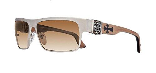 Chrome Hearts - Flavor Saver - Sunglasses (Brushed Silver-Wood Walnut/Ebony/Walnut, Mahogany - Sunglasses Chrome Hearts