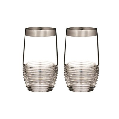 Mixology Mad Men Edition Circon HighBall Glass (Set of 2) Finish: Platinum by Waterford