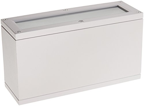 WAC Lighting WS-W2510-WT Rubix LED Outdoor Rectangular Up and Down Wall Light Fixture, One Size, White