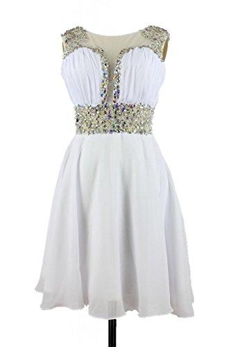 charmingbridal - Robe - Trapèze - Femme -  blanc - 46