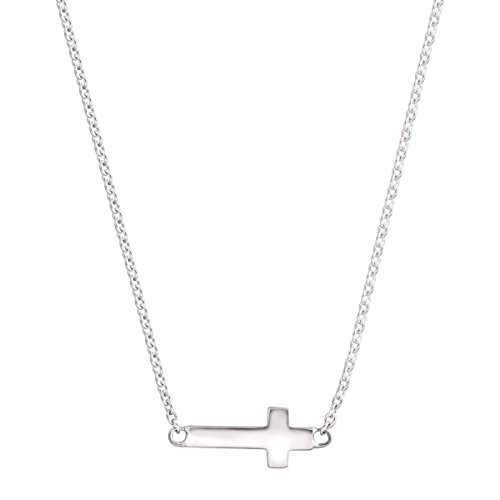 Silpada 'Simplex Cross' Horizontal Cross Pendant Necklace in Sterling Silver