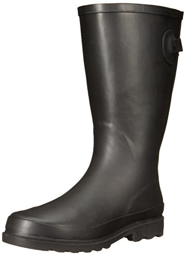 Western Chief Women Wide Calf Rain Boot, Black Satin Finish, 8 W US