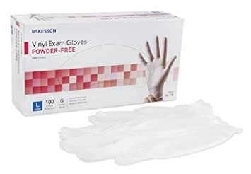 McKesson Medi Pak Powder Free Exam Gloves Box of 100, Pack of 5 Boxes