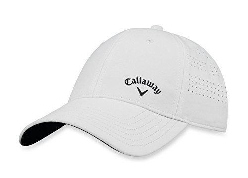 Callaway Golf 2018 Women's Opti Vent Adjustable Hat, White/Black (Hat Callaway White)