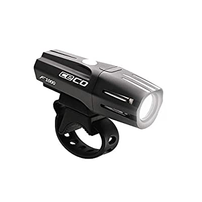CECO-USA F1000 USB Rechargeable Bike Light – Super Bright 1000 Lumen Bicycle Headlight – Tough and Durable IP67 Waterproof & FL-1 Impact Resistant – for Commuters, Road Cyclists, and Mountain Bikers