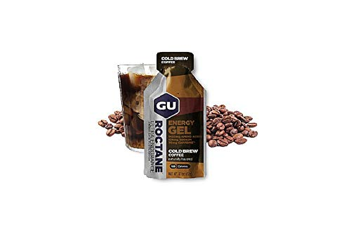 GU Energy Labs Gu Energy roctane Ultra Endurance Energy Gel, Cold Brew Coffee, 24-Count, Cold Brew 2X Caffeine, 24 Count