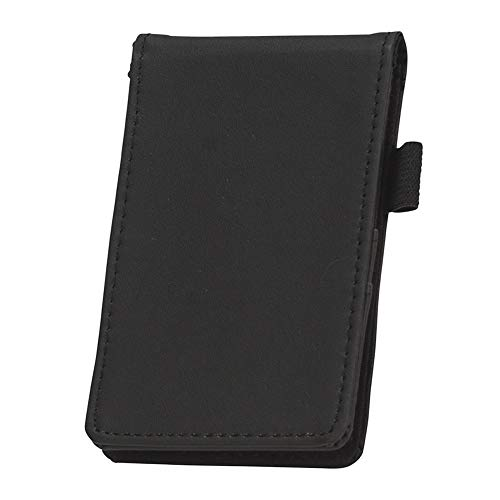 Samsill Mini Pocket Notepad Holder/Memo Book Cover, 2 7/16 x 4 1/4 Sized Notepad Included with 40 Lined Sheets, Refillable, - Notepad Black