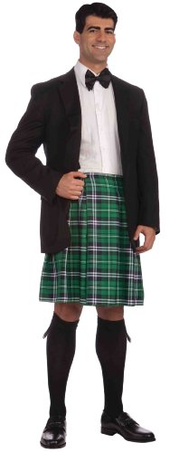 Forum St. Patrick's Day Kilt Costume, Green Plaid, One -