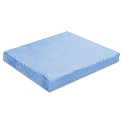 Hospeco HOS PR811 12'' x 12'' Sontara Polybag Creped Wiper, Blue Color