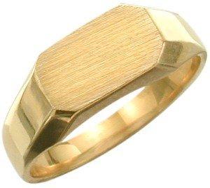 10 Karat Yellow Gold Rectangle Baby Ring (Gold Yellow Ring Rectangle Baby)