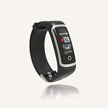 QUMOX Smartwatch Presión Arterial Monitor de Ritmo Cardíaco Podómetro Sports Fitness Tracker M4, Negro