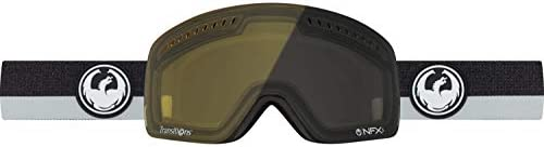 Dragon Alliance NFXS Flux Grey Transition Ski Goggles, Black