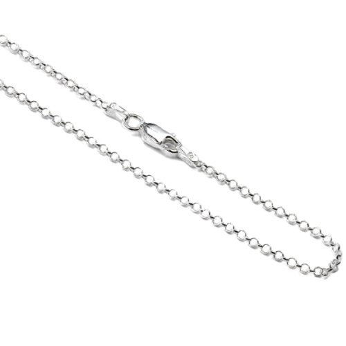 - Amber by Graciana Sterling Silver 1mm Rolo Chain