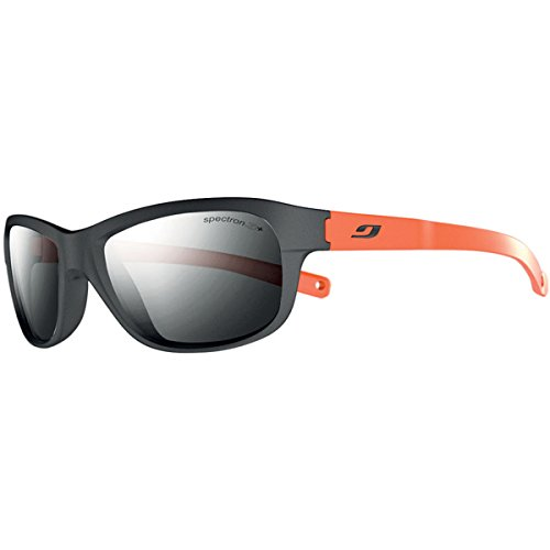 Julbo Kid's Player Sunglasses with Spectron 3+ Lens, Black/Orange, 4-8 - Asian Julbo Fit