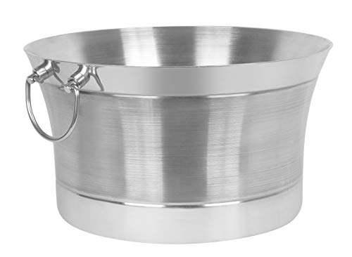 BirdRock Home Double Wall Round Beverage Tub - Stainless Steel - Small