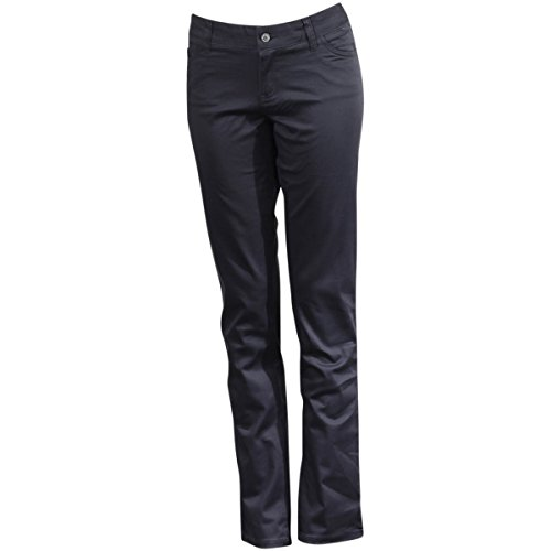Dickies Girl Junior's Classic 5 Pocket Skinny Pant, Charcoal, 13 by Dickies Girl