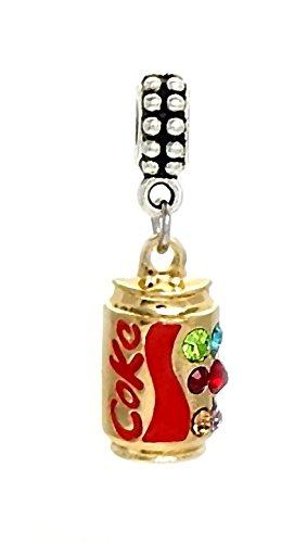 J&M Dangle Coca Cola/Coke Charm Bead for Bracelets