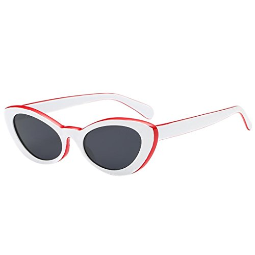 17d6b7937d3 Multi-Colored Unisex Classic Cat Eye Designer Style Mirrored Vertily Sun  Glasses (White