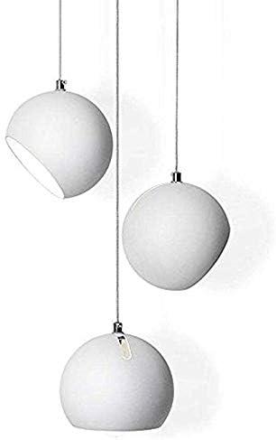 Moderna lámpara colgante Redonda, 3 focos lámpara colgante creativa de metal, pantalla de lámpara de diseño artístico personal, lámpara de techo para salón, comedor, mesa de comedor, E27 máx40W, Ø15cm: Amazon.es: Iluminación
