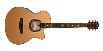 Carlo Robelli crf550tbx bceq Thin Line Guitarra Acústica con Cutaway ...