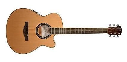 Carlo Robelli crf550tbx bceq Thin Line Guitarra Acústica con Cutaway Guitarra eléctrica