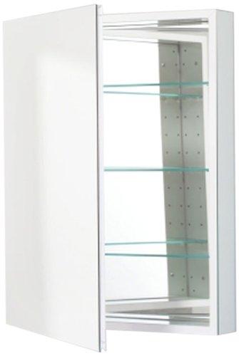 robern cbplm2430w plseries flat mirror medicine cabinet white