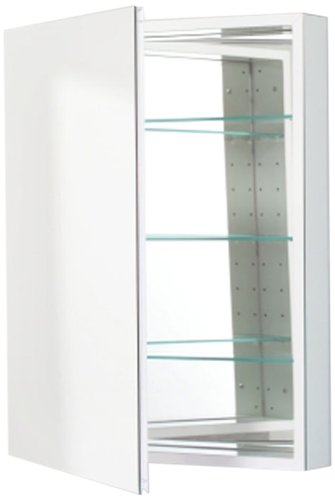 Robern PLM2430W Pl-Series Flat Mirror Medicine Cabinet, ()