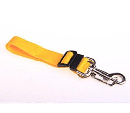 Jackie Adjustable Dog / Cat Safety Vehicle Car Seat Belt for Pet,Orange