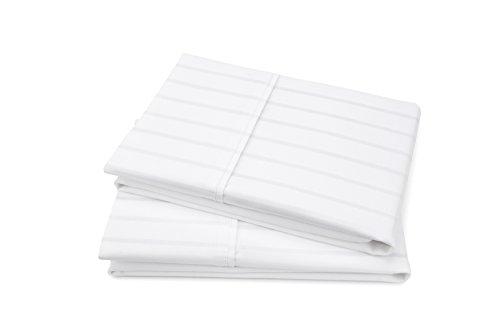 BALTIC LINEN 420 Thread Count Dobby Stripe 2 Piece Pillow Case Set, King, White Stripe Pillowcase Set