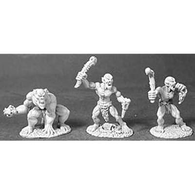 Reaper Miniatures Ghouls and Ghast (3 Pcs) #02450 Dark Heaven Unpainted Metal: Toys & Games