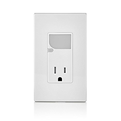 Leviton T6525-W 15-Amp 125V AC Combination Decora Tamper Resistant Receptacle with LED Guide Light, White