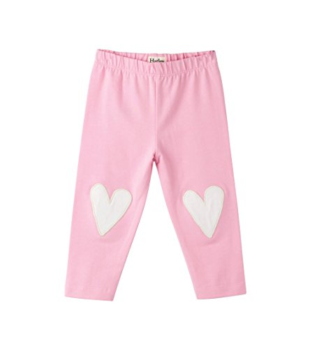 Hatley Baby Girls Heart Knee Patch Mini Leggings, Pink, 3-6M (Hatley Heart)