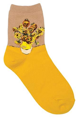 GGorangNae - Van Gogh Sunflowers Women's Ankle Socks by Bamboo Trading Company