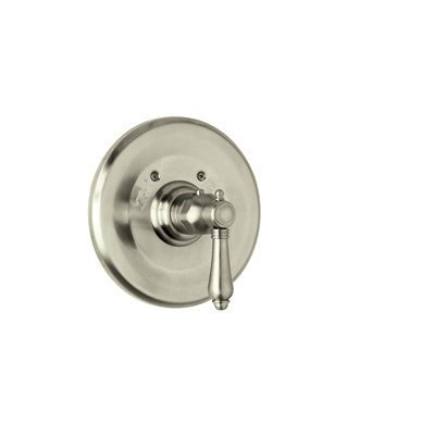 Nickel Crystal Lever - Rohl A4914LCSTN A6400Lpapc Rohl Country Bath Trim Only Concealed Thermostatic Valve with Crystal Lever, Satin Nickel by Rohl