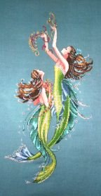 Mirabilia Mermaids of the Deep Blue Cross Stitch Pattern